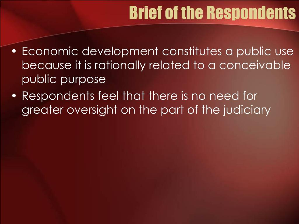 Brief of the Respondents