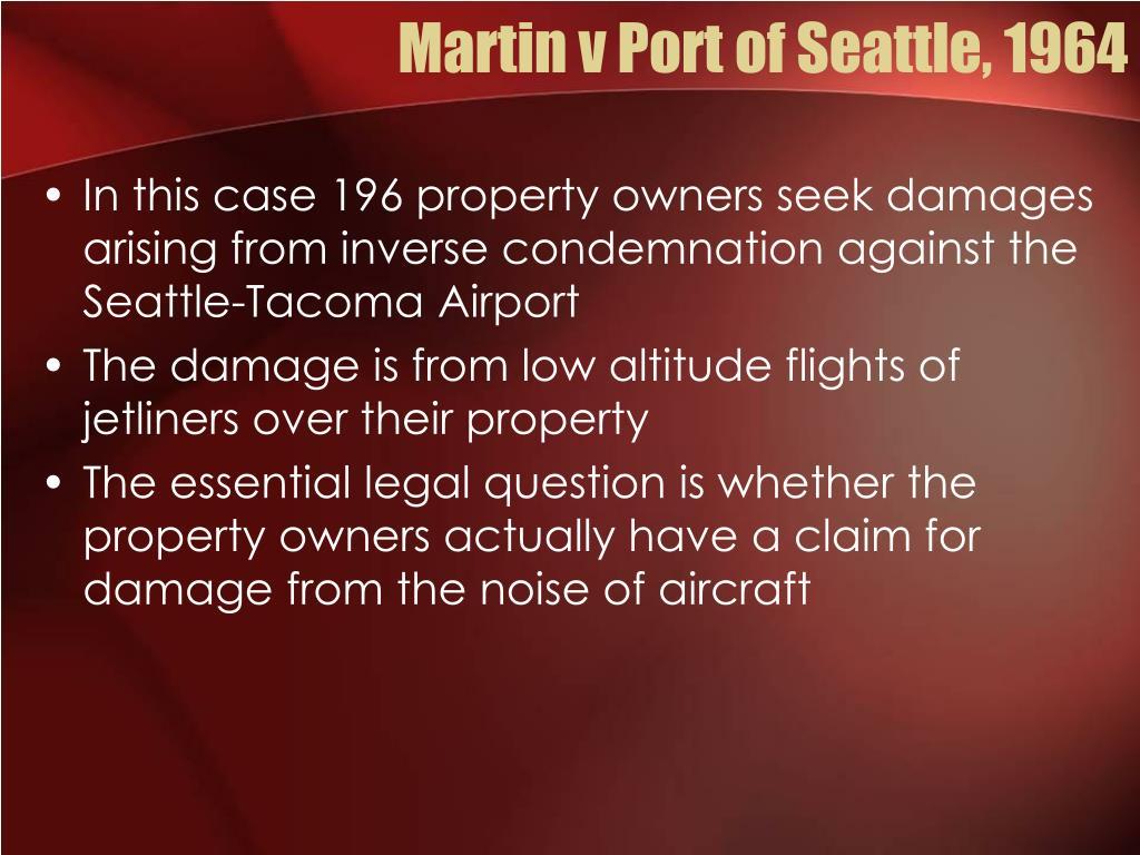 Martin v Port of Seattle, 1964