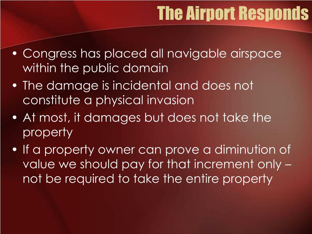 The Airport Responds
