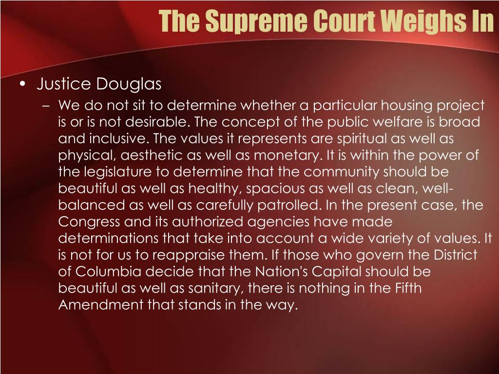 The Supreme Court Weighs In