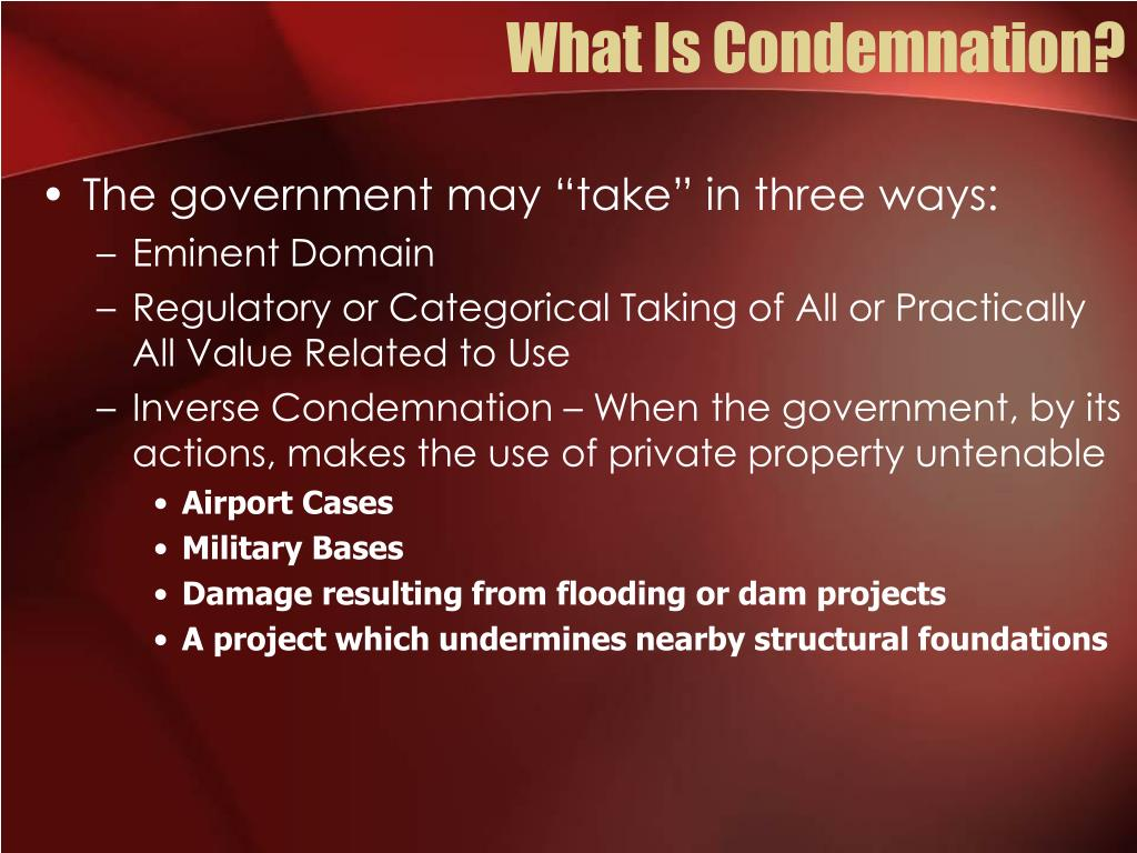 What Is Condemnation?