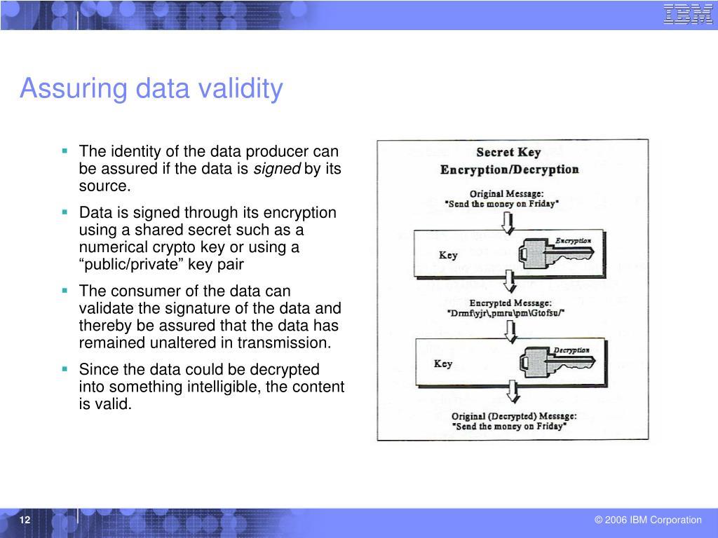 Assuring data validity