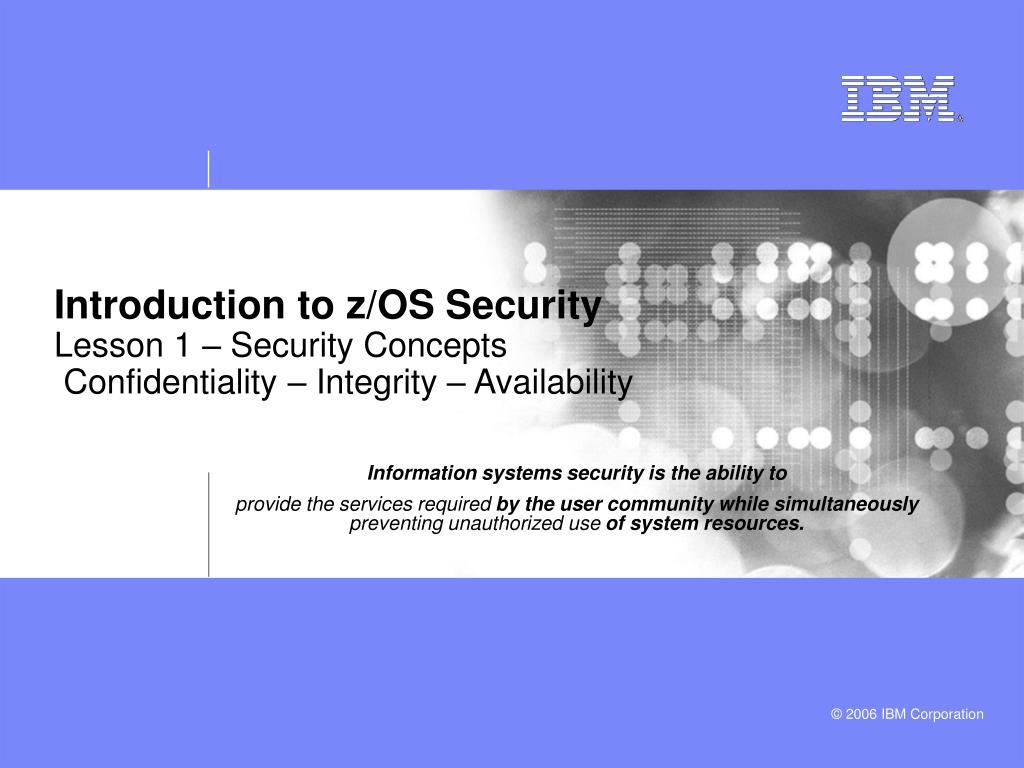 Introduction to z/OS Security