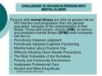 challenges to hiv aids in persons with mental illness