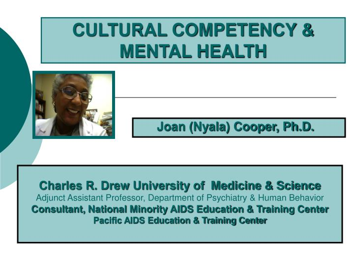 Cultural competency mental health l.jpg