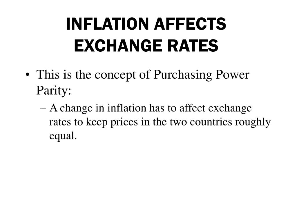 INFLATION AFFECTS EXCHANGE RATES