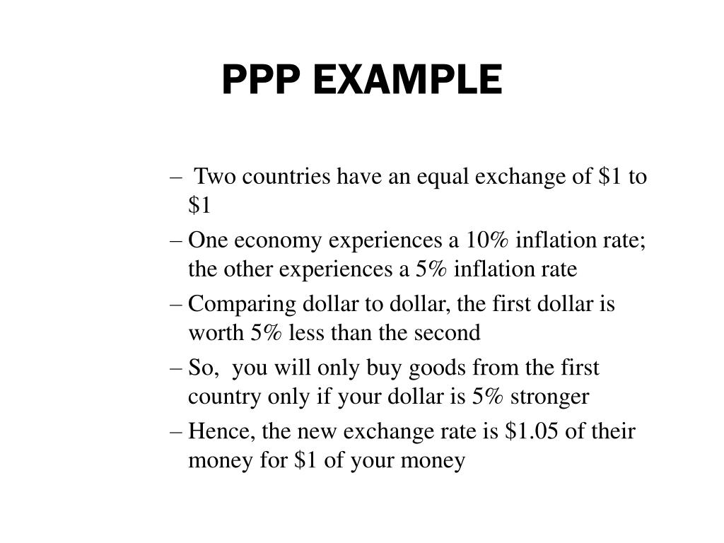 PPP EXAMPLE