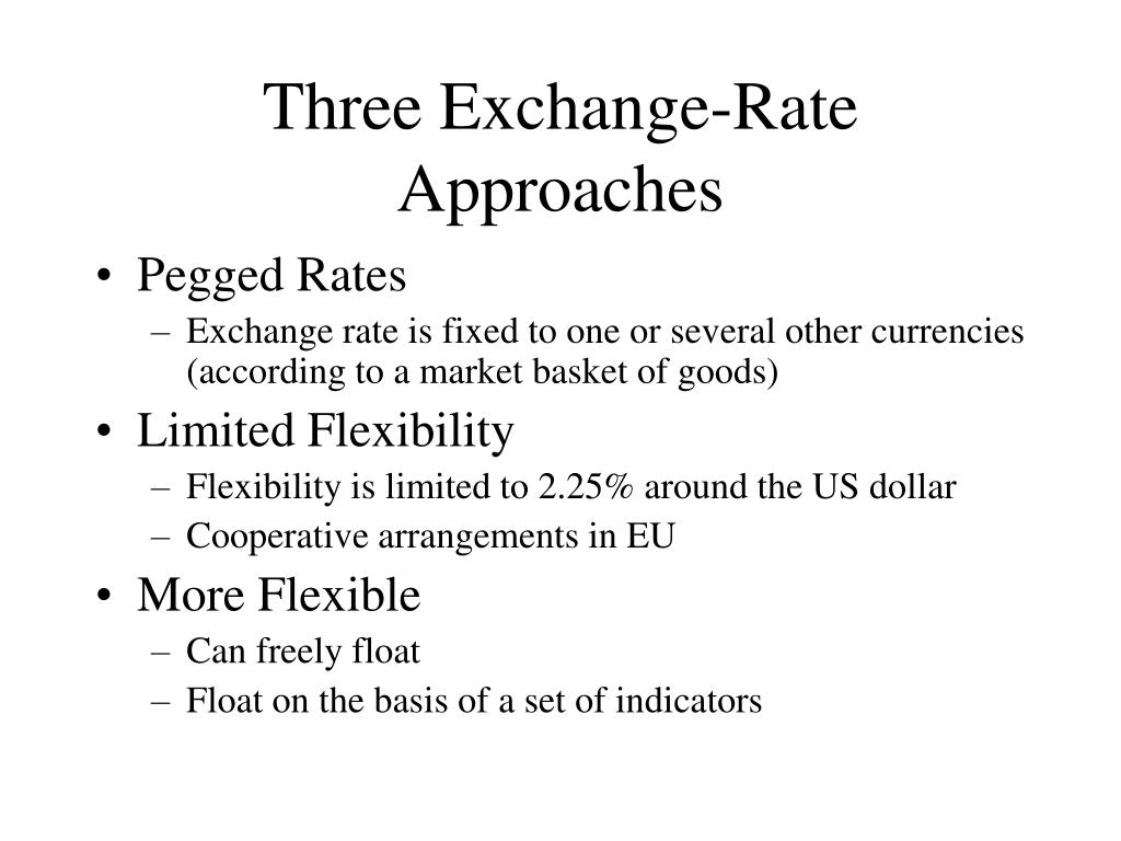 Three Exchange-Rate Approaches