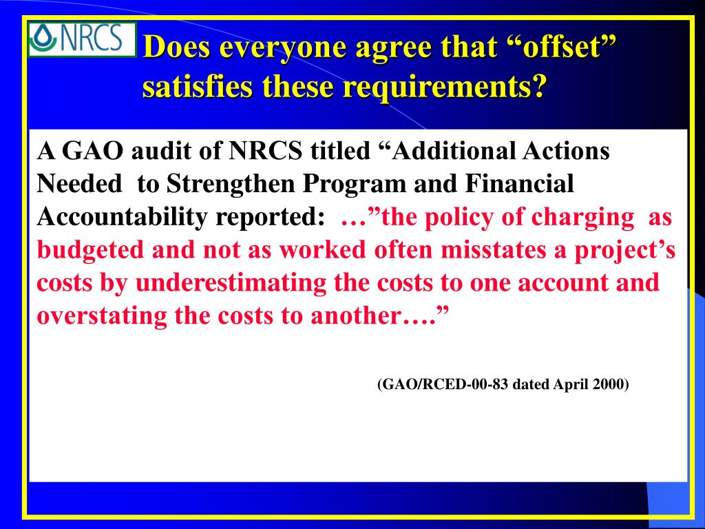 """Does everyone agree that """"offset"""" satisfies these requirements?"""