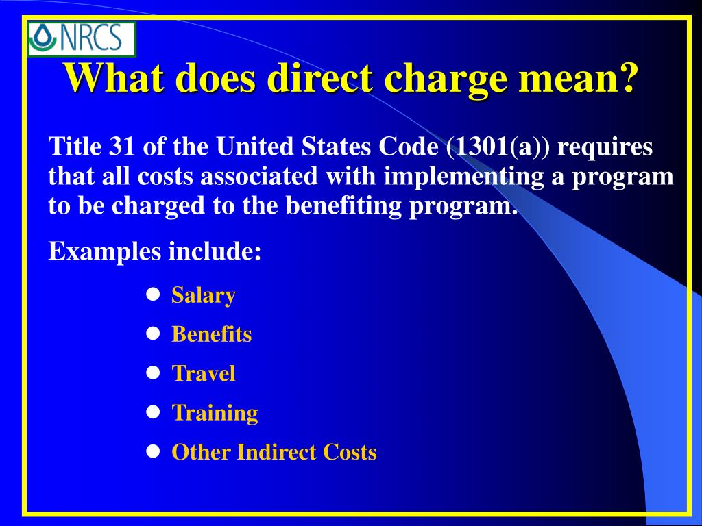 What does direct charge mean?