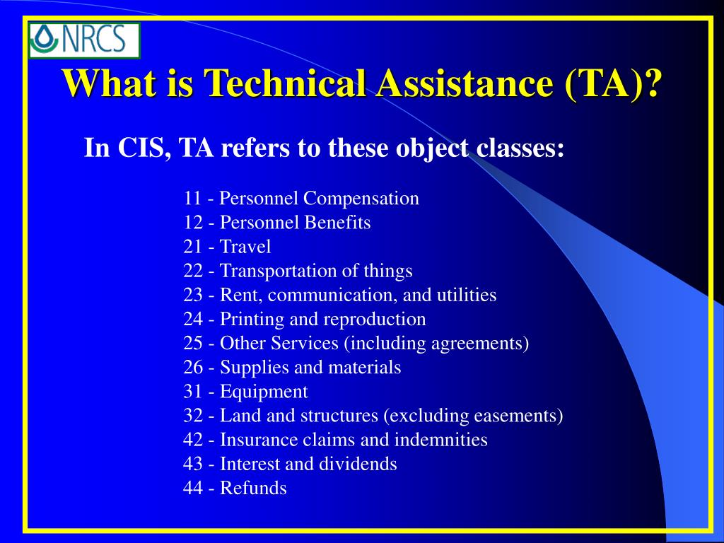 What is Technical Assistance (TA)?