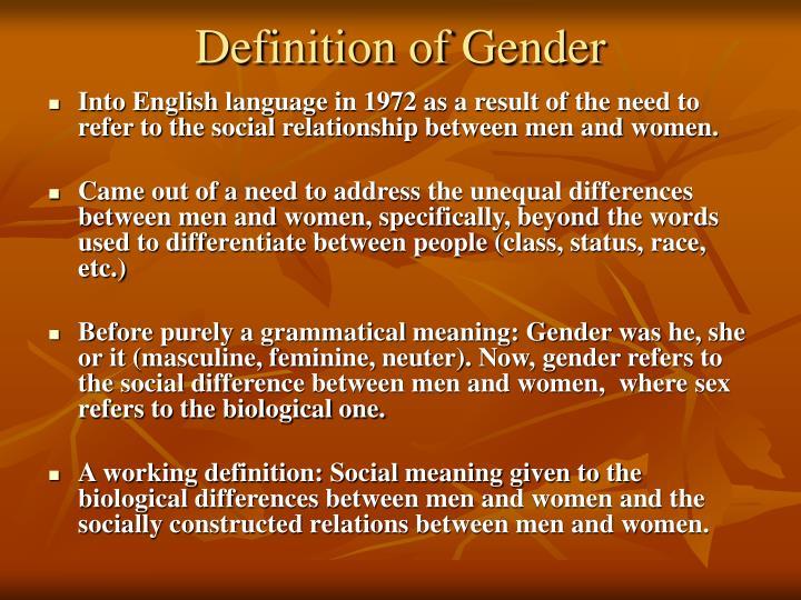 Definition of Gender