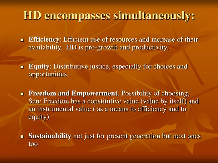HD encompasses simultaneously: