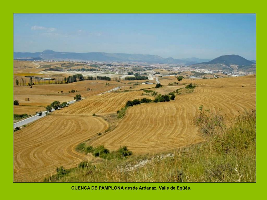 CUENCA DE PAMPLONA desde Ardanaz. Valle de Egüés