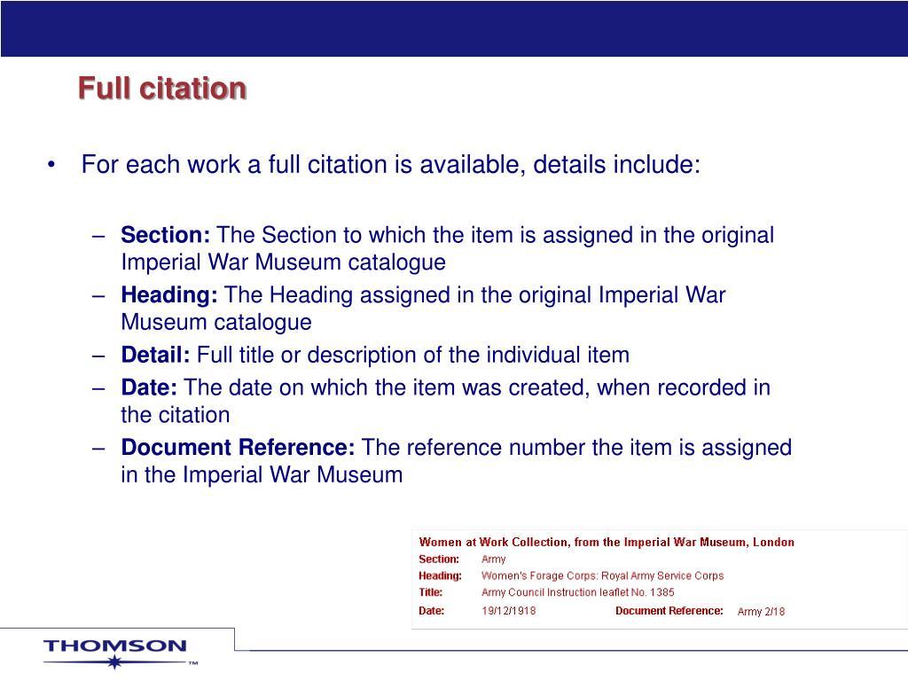 Full citation