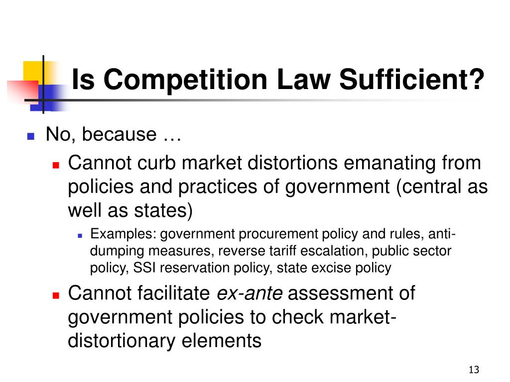 Is Competition Law Sufficient?