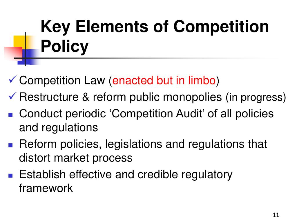 Key Elements of Competition Policy