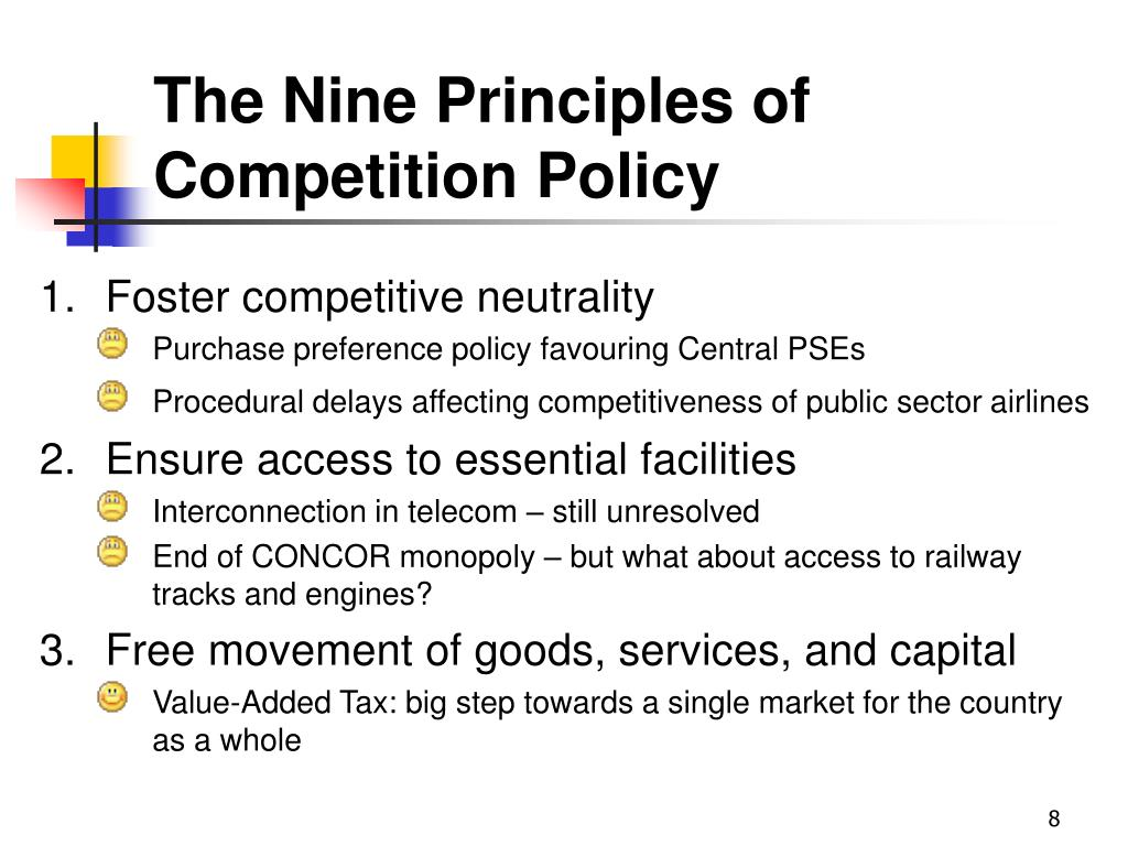 The Nine Principles of Competition Policy