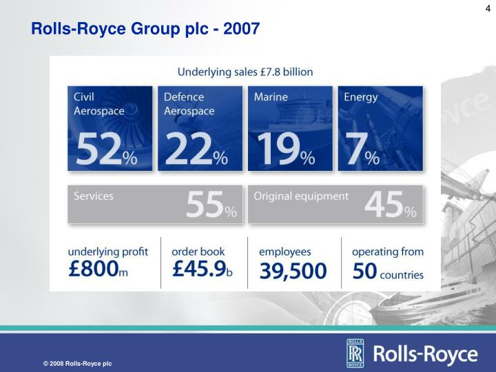 Rolls-Royce Group plc - 2007