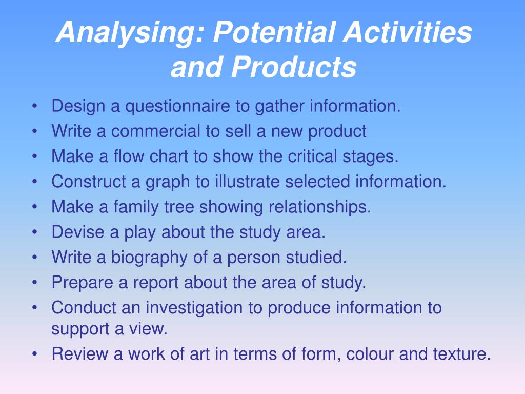 Analysing: