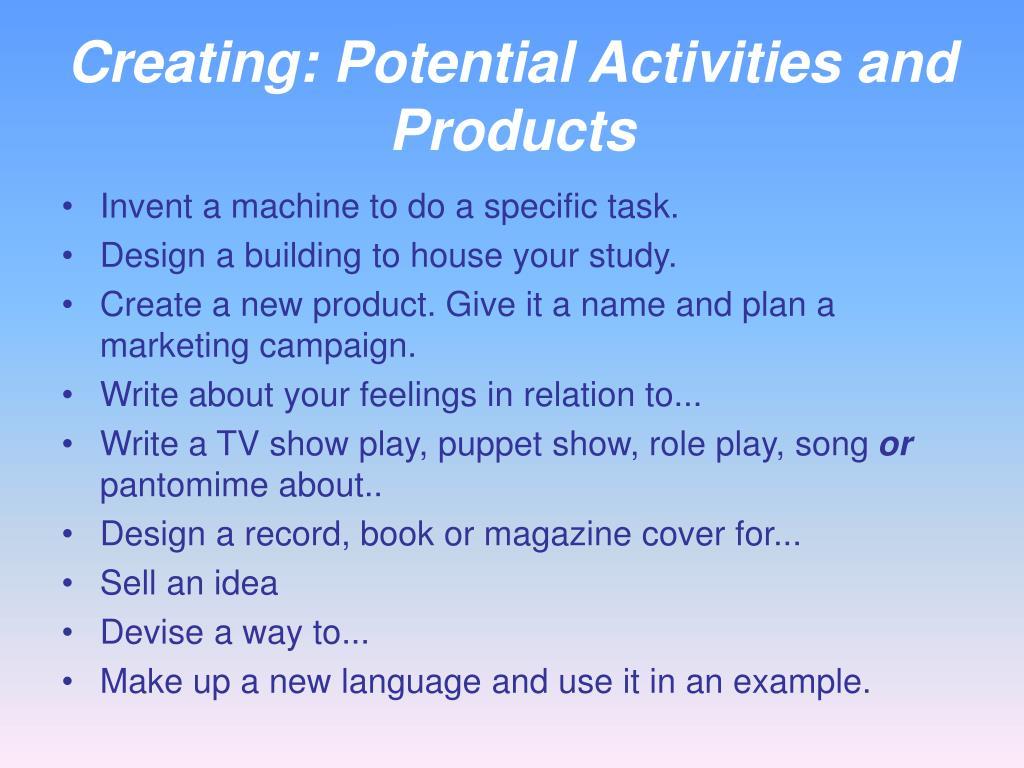 Creating: