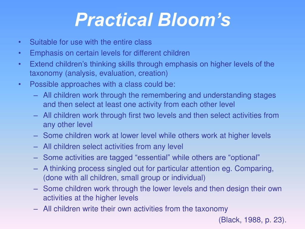 Practical Bloom's