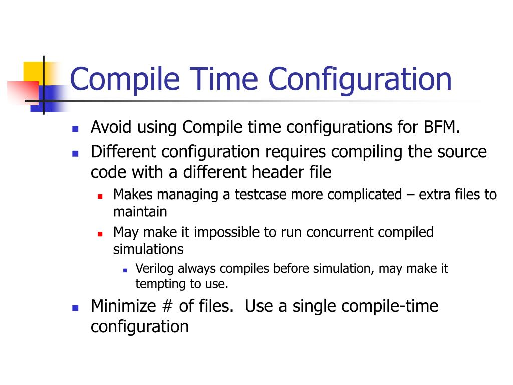 Compile Time Configuration