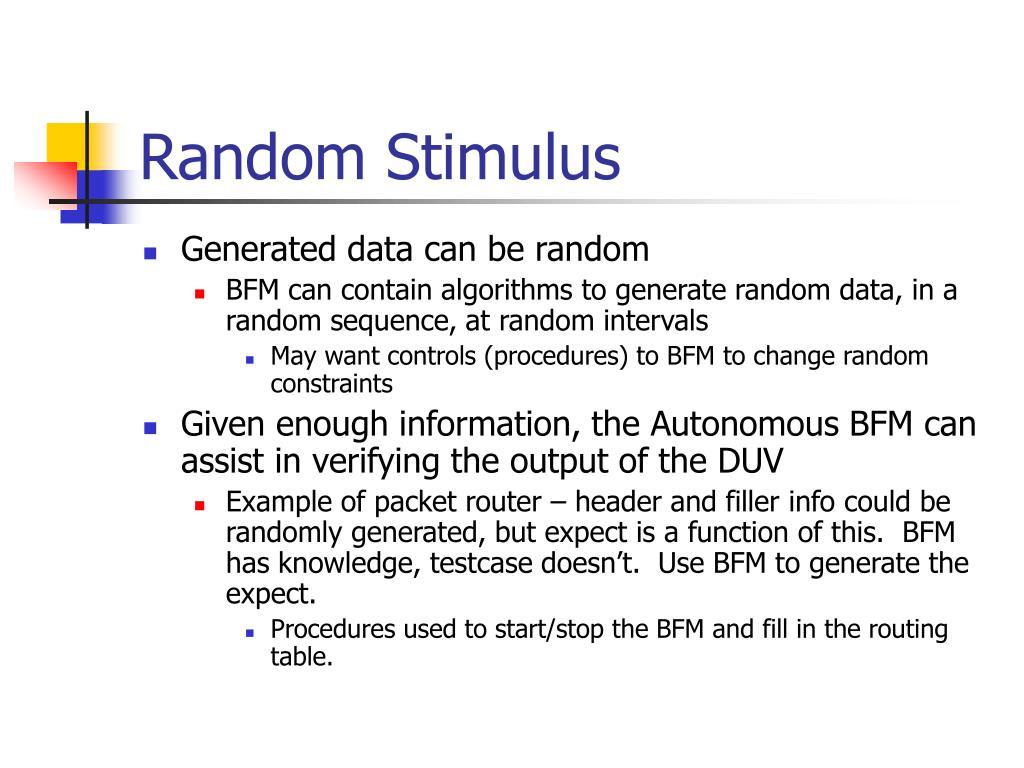 Random Stimulus