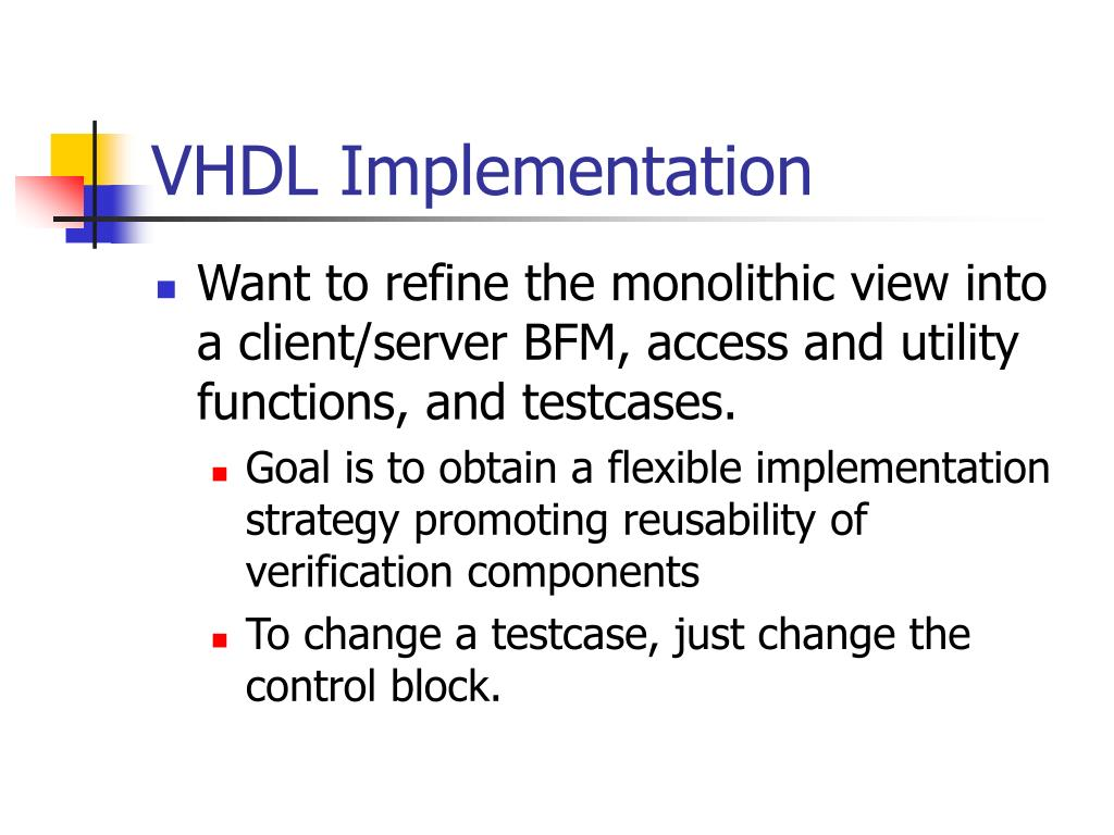 VHDL Implementation