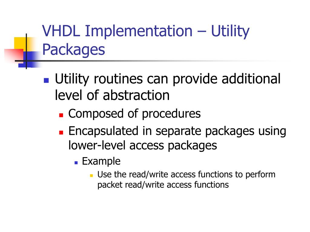 VHDL Implementation – Utility Packages