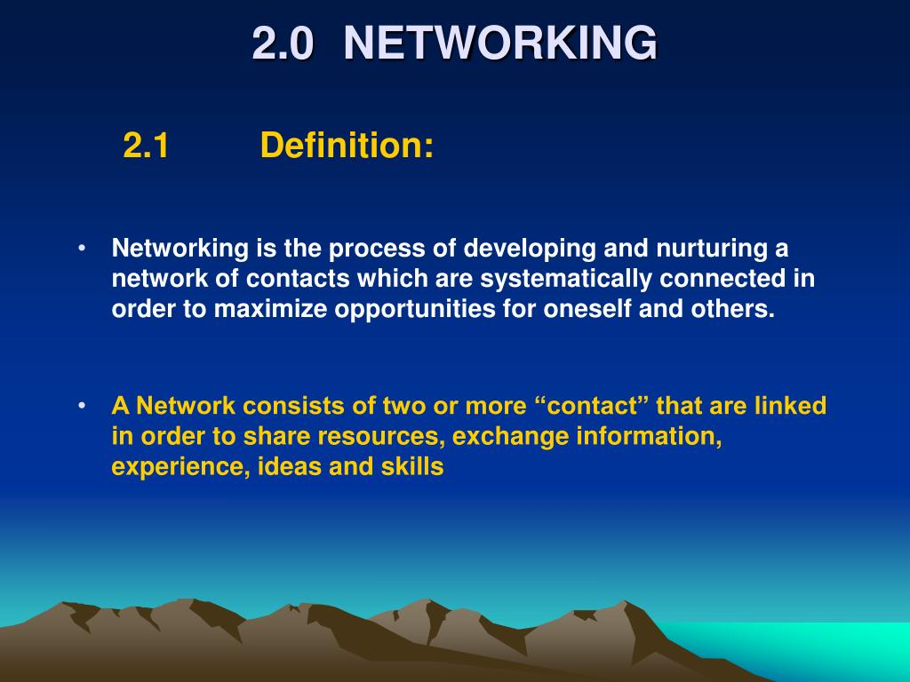 2.0NETWORKING