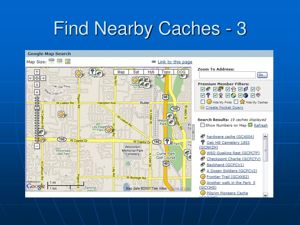 Find Nearby Caches - 3