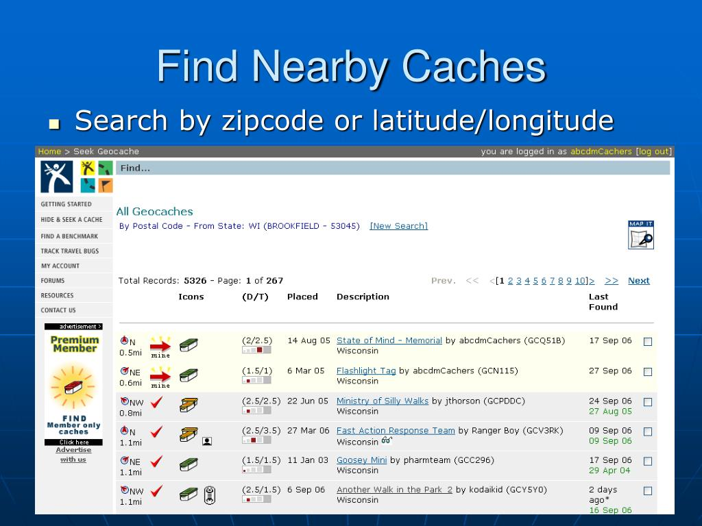 Find Nearby Caches