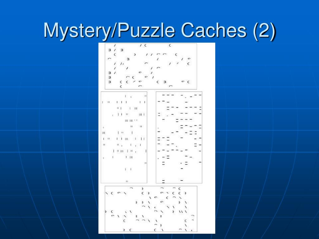 Mystery/Puzzle Caches (2)