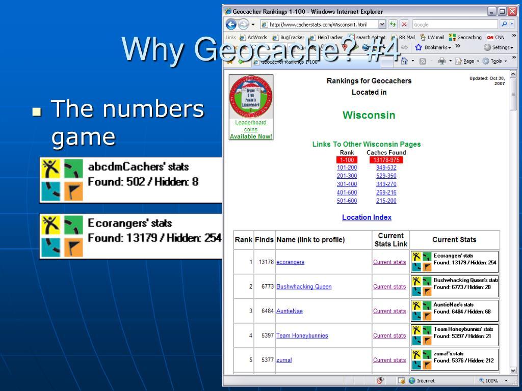 Why Geocache? #4