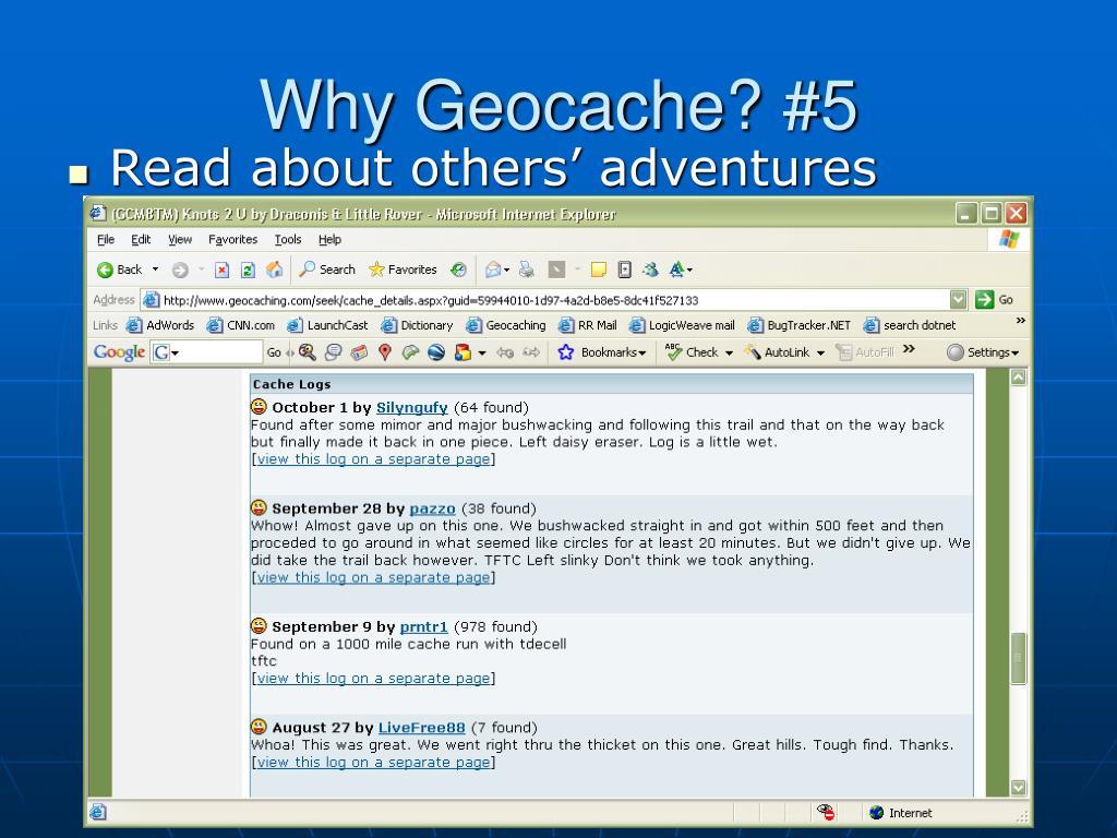 Why Geocache? #5