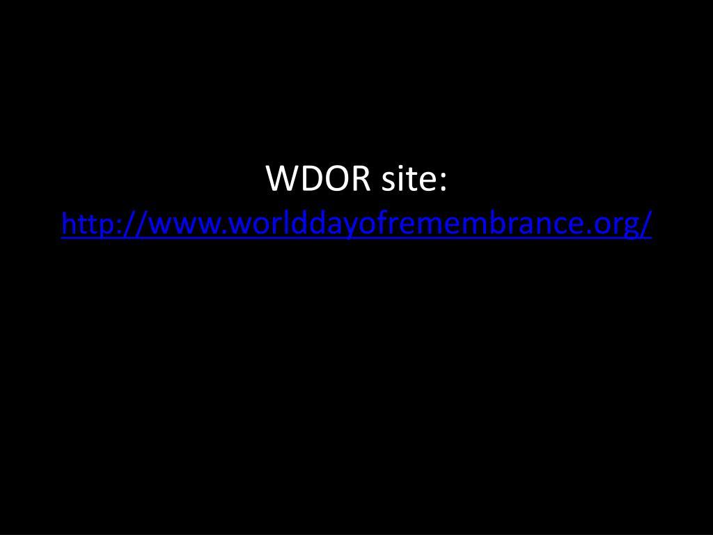 WDOR site: