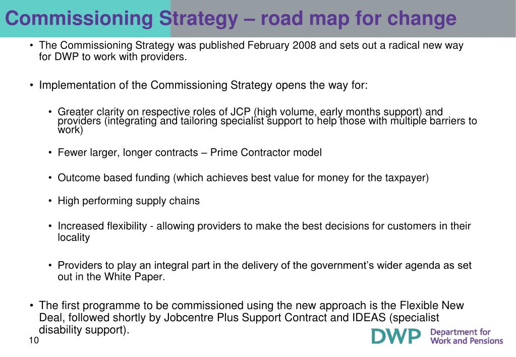 Commissioning Strategy – road map for change
