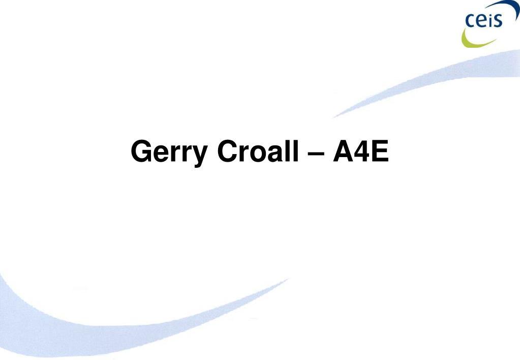 Gerry Croall – A4E
