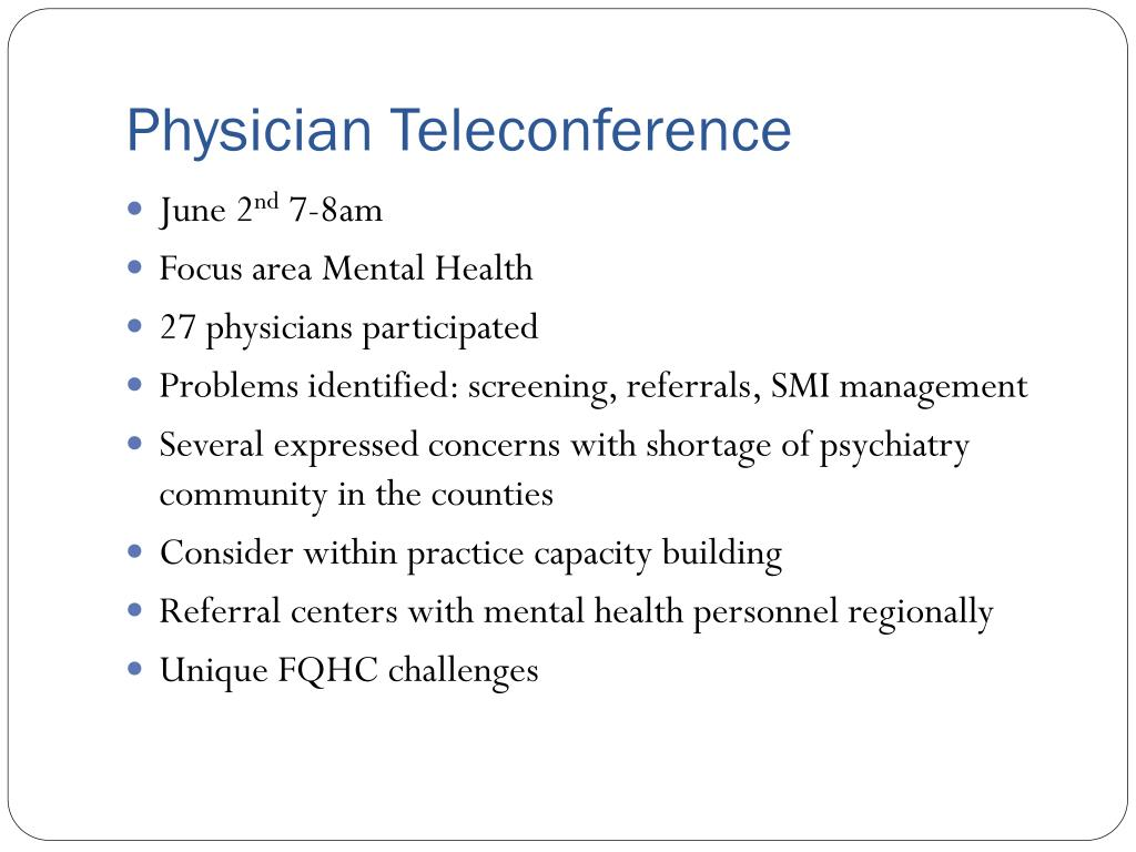 Physician Teleconference