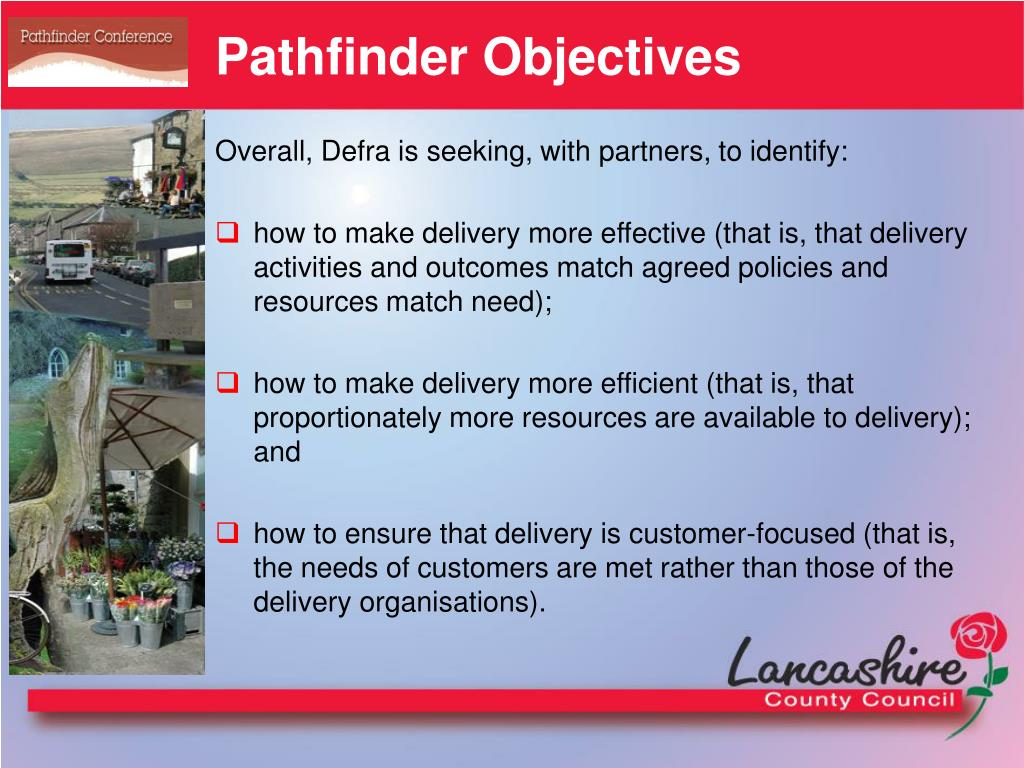 Pathfinder Objectives