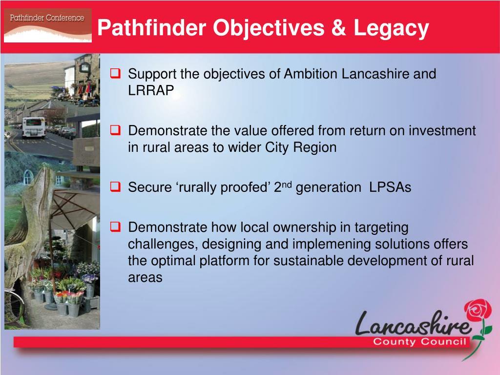Pathfinder Objectives & Legacy