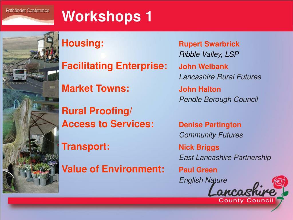 Workshops 1