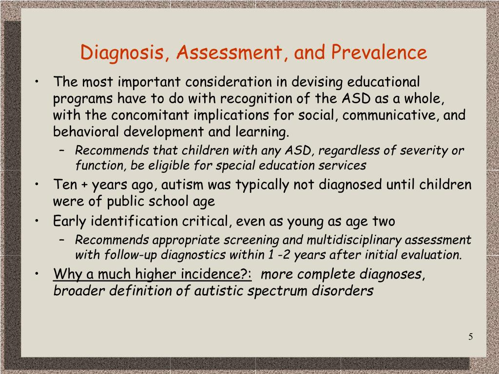 Diagnosis, Assessment, and Prevalence