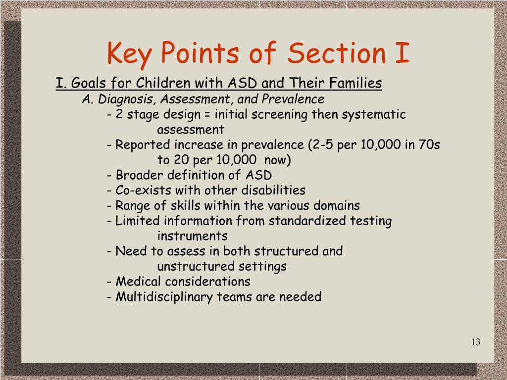 Key Points of Section I