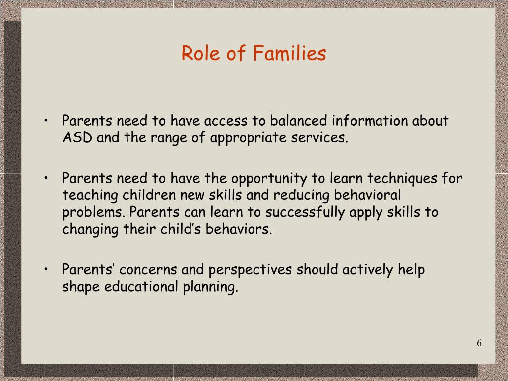 Role of Families