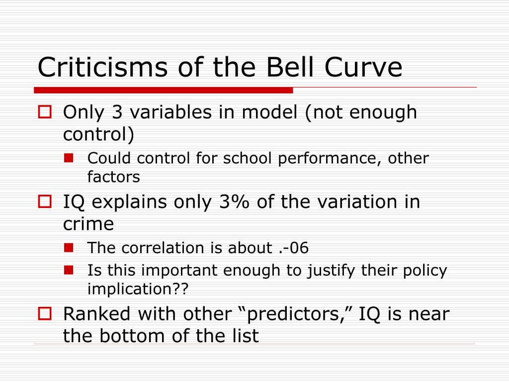 Criticisms of the Bell Curve