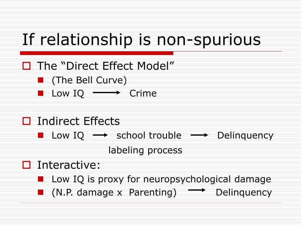 If relationship is non-spurious