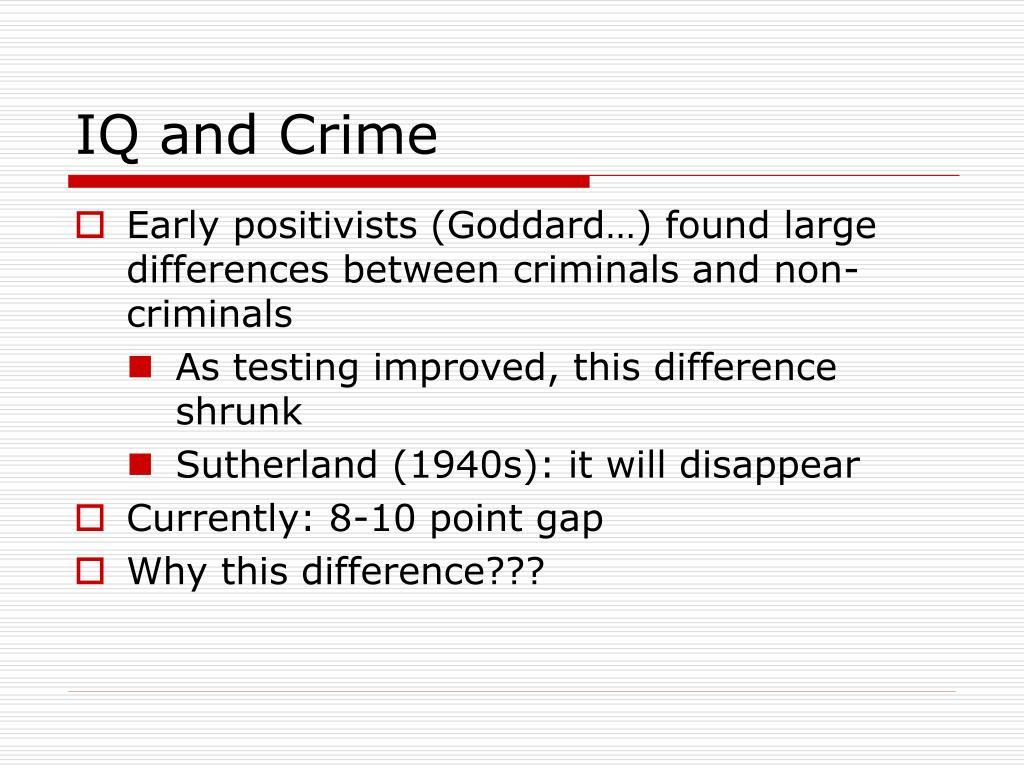 IQ and Crime