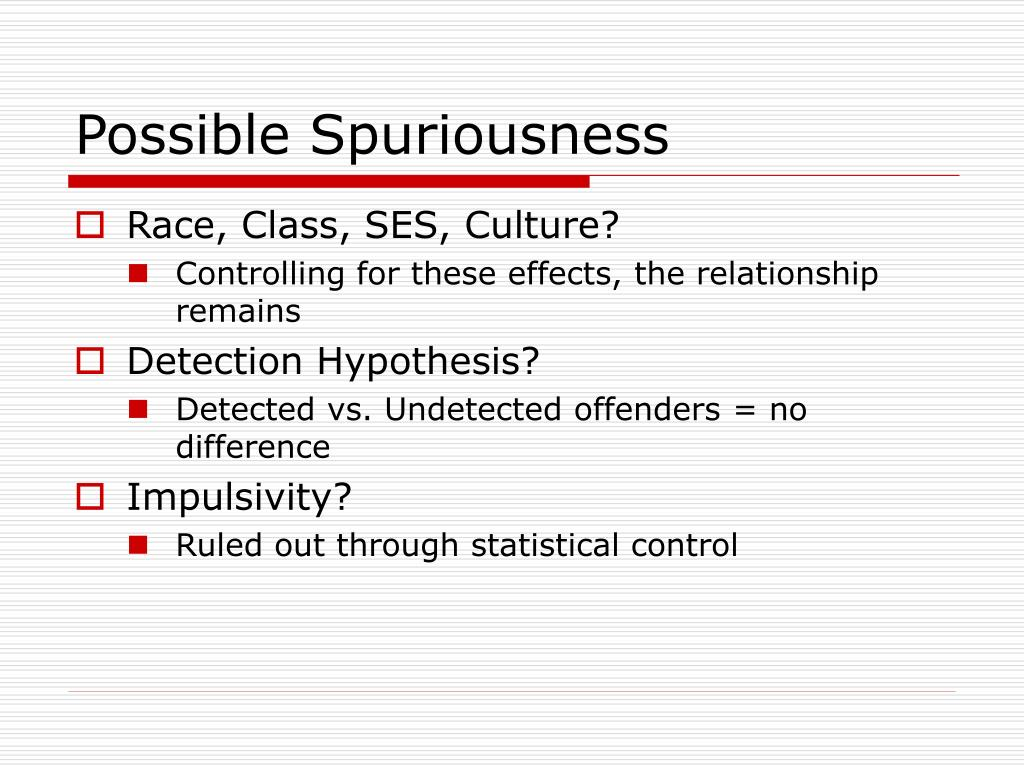 Possible Spuriousness